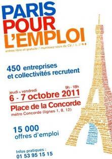 Axecibles présent au Forum pour l'Emploi à Paris les 6 et 7 octobre 2011 !