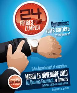 Le 16 Novembre 2010 Axecibles recrute au salon 24 Heures pour l'Emploi à Amiens