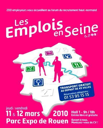 Emploi en Seine à Rouen les 11 et 12 mars 2010