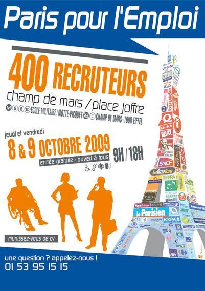 Axecibles Paris pour l'emploi les 14 et 15 octobre 2010