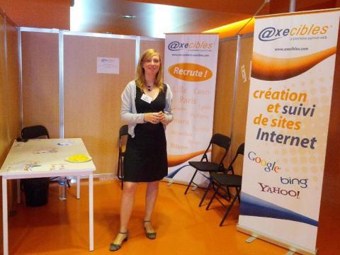 Axecibles était présente au salon 24 Heures pour l'Emploi à Valenciennes le 24 mai 2012