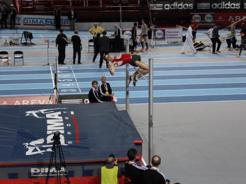 Axecibles aux Championnats de France d'athlétisme Elite en Salle.